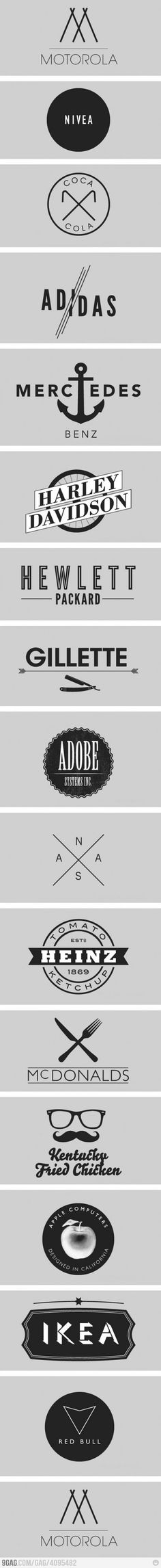 Minimalist Logos, i love the black and white logo and how they are all different from each other.