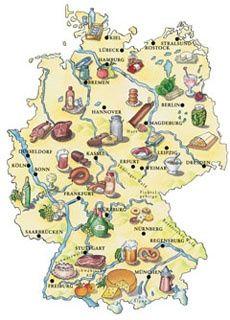 German foods by region deutschland