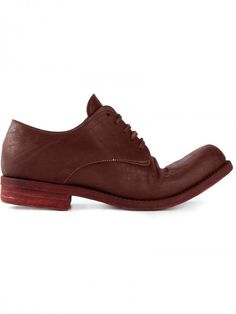 a Diciannoveventitre Distressed Derby Shoes | Footwear