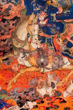 iheartmyart - A small selection of objects from the Rubin Museum. Tibetan Art, Turning Japanese, Buddhist Art, September 2014, Buddhism, Art Museum, Art Art, Paint Colors, Asia