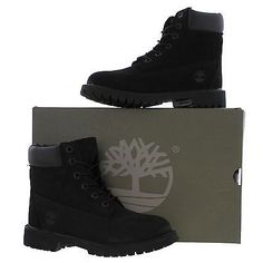 Timberland 6 Inch Premium Womens Juniors Waterproof Ankle Boots 12907 Size 4-6.5