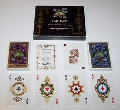"Double Deck Fournier ""Far East"" Playing Cards, Isabel Ibanez de Sendadiano Designs, c.1980"