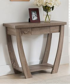 Love this Light Oak Latterz Console Table by Furniture of America on #zulily! #zulilyfinds - perfect for my entrance❤