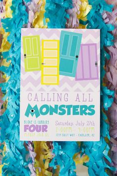 monster university cupcakes   Playful Monsters University Themed Party // Hostess with the Mostess®