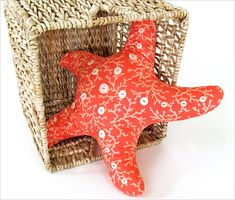 Starfish Pillow with Button Accents