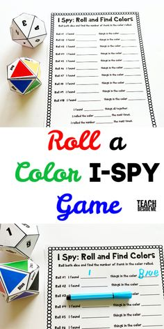 Play a fun i spy game with your kids with an educational math and writing spin! Kids will love finding different numbers of colored things. Spy Games For Kids, I Spy Games, Activities For Kids, Preschool Math Games, Teaching Colors, Learning Numbers, Color Activities, Creative Teaching, Coloring For Kids
