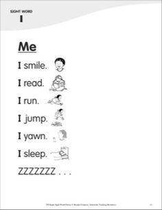 Me (Sight Word 'I'): Super Sight Words Poem