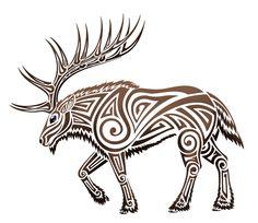 Tribal Elk by trahana - Nabyn