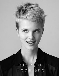 merethe hopland  #short #pixie #hair