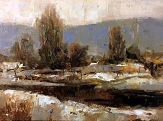 Julie Ford Oliver, New Mexico Snow 6x8in oil