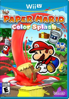 Paper Mario: Color Splash (Wii U) (Nintendo Wii U-spel) Playstation, Xbox 360, Paper Mario Color Splash, Colour Splash, Paper Mario Games, Cumple Paw Patrol, Adventure Rpg, Space Hero, Wii U Games