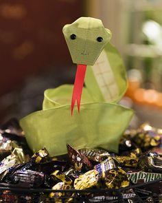 Halloween Crafts  Ribbon Snakes