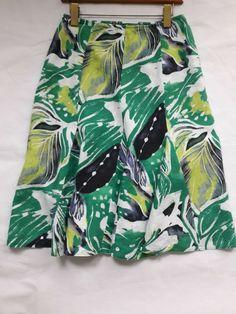 29c723b972 M&S Per Una Size 10 100% Linen fluted Skirt Boho Gypsy Summer Holiday  Festival #