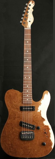"""G&L Guitars ASAT® Special Deluxe """"Cowhide"""", Swamp Ash body with genuine Cowhide on the front & headstock face"""