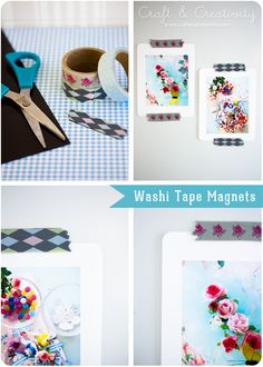 Washi tape magnets - by Craft & Creativity