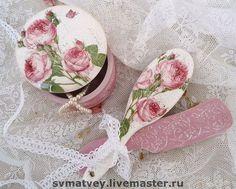 """""""Розовый зефир"""" - Декупаж,розы,пыльная роза,трафарет,объем,подарок девушке"""