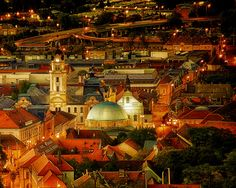 An evening at Pécs. Photo by Sasvári János Heart Of Europe, Danube River, Secret Places, Central Europe, Budapest Hungary, Eastern Europe, Homeland, Beautiful Places, Places To Visit