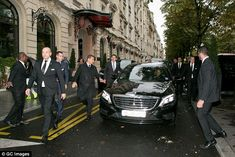 A bevy of bodyguards: Leaving the Royal Monceau on his way to the NRJ radio station on Wednesday, the pop superstar's was beefed-up after a large group of fans had gathered outside the luxury hotel Bodyguard Services, Close Protection, Executive Protection, Anime Drawing Styles, Personal Security, Security Guard, Star Fashion, Luxury Lifestyle, Justin Bieber