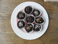 Chocolate Chip Cookie Dough Truffles [Gluten Free, Refined Sugar Free]
