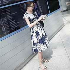 Buy 'mayblue – Drawstring-Waist Print Dress ' with Free International Shipping at YesStyle.com. Browse and shop for thousands of Asian fashion items from South Korea and more!