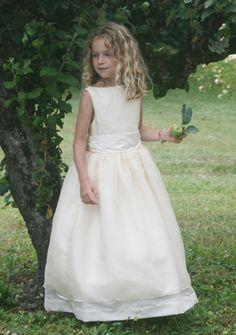 High end flower girl dresses UK - traditional & made to order wedding clothes for girls- London, Dublin, Belfast, Ireland, France, Paris - Little Eglantine