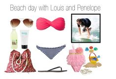 """""""Beach day with Louis and Penelope"""" by cheerleader1993 ❤ liked on Polyvore featuring Wonderland, Topshop, Monsoon, Melissa & Doug, Ann Taylor, philosophy and Rut&Circle"""