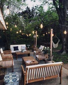 Small Outdoor Patios, Small Backyard Patio, Backyard Patio Designs, Back Patio, Diy Patio, Outdoor Spaces, Outdoor Decor, Outdoor Fire, Backyard Ideas