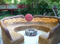 COB BENCH AND FIREPIT