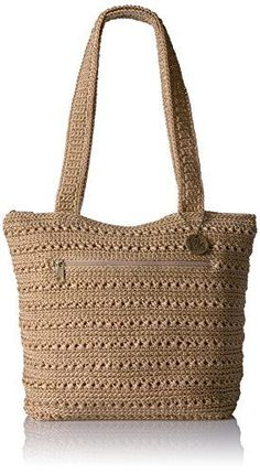 The Sak Riviera Tote, Bamboo Crochet Tote, Crochet Handbags, Hand Crochet, Nylon Bag, Knitted Bags, Handmade Bags, Purses And Handbags, Ladies Handbags, Reusable Tote Bags