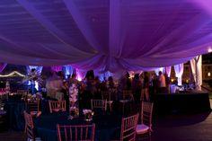 Pavillion Wedding with lighting