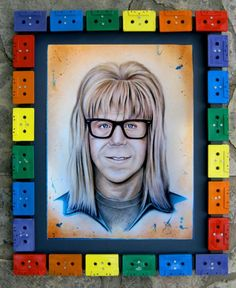 BROTHERTEDD.COM - xombiedirge: Party On by Janis Fowler/ Tumblr ... Wayne's World, Sharpie, Tattoo Ideas, Recycling, Pastel, Tumblr, Frame, Artwork, Picture Frame
