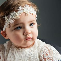 A perfect addition to her Christening Gown or Dress. Our girls headbands will help complete her outfit while looking her best! Newborn Girl Headbands, Floral Headbands, Headband Baby, Christening Headband, Christening Gowns, Baby Boy Baptism Outfit, Baptism Clothes, Girl Baptism, Baby Blessing
