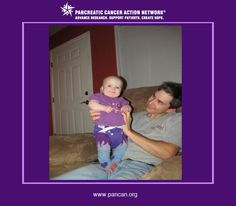 Leah lost her grandmother in September 2010 to pancreatic cancer, so here she is wearing purple to support pancreatic cancer awareness.