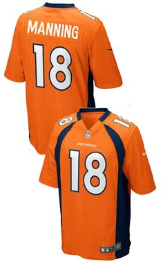 wholesale dealer 4b56e 5ece9 Denver Broncos Peyton Manning Nike NFL Mens Game Jersey