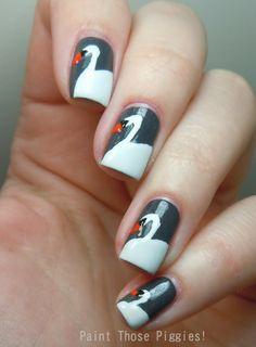 Paint Those Piggies!: Swan #nail #nails #nailart