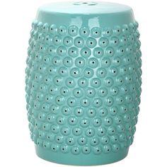 Safavieh Stella Aqua Nail Head Stool - Overstock™ Shopping - Great Deals on Safavieh Garden Accents