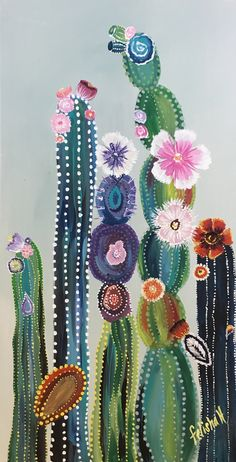 colorful cactus of Felisha Hoover 75 shipping available colorful kakteen The colorful cactus of Felisha Hoover 75 shipping available colorful kakteen The colorful. Cactus Painting, Cactus Art, Painting & Drawing, Cactus Plants, Indoor Cactus, Cactus Decor, Cactus Drawing, Cactus Flower, Basic Painting
