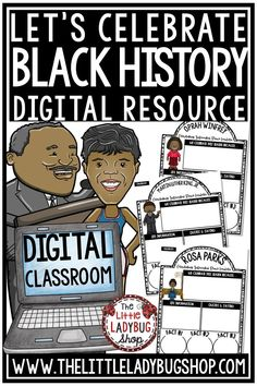 You will absolutely love using these Black History Month Research Google Classroom™ Resource! These are perfect for your students to study these famous individuals including Martin Luther King, Jr., Rosa Parks and more. Great for 3rd grade, 4th grade, 5th grade and home school students. #blackhistorymonthactivities #blackhistorymonthresearch #digitalresource #googleclassroomresearch