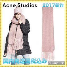 セレブ愛用者多数☆Acne Studios☆Abby Scarf in Ribbed Alpaca