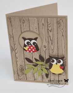 Super birthday wishes ideas stampin up Ideas Homemade Birthday Cards, Homemade Cards, Owl Punch Cards, Owl Card, Hand Made Greeting Cards, Animal Cards, Valentine Day Cards, Valentines Puns, Fall Cards