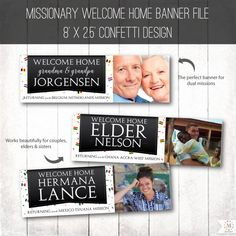 DIGITAL BANNER Design Giant Welcome Home Confetti by MeckMom