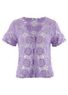 Fioletowe koronkowe bolerko do sukienki Lace, Sweaters, Clothes, Tops, Women, Fashion, Tejidos, Breien, Outfit