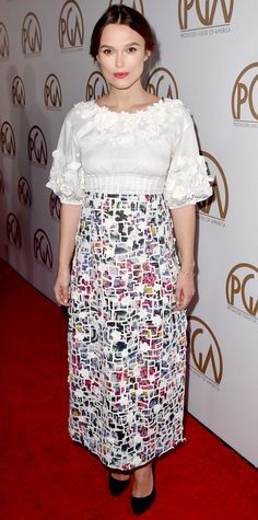 Look of the Day - January 26, 2015 - Keira Knightley from #InStyle