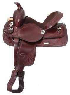 "11"" Children's Dark Oil All Around Trail Western Saddle"