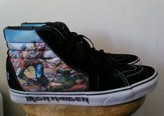 "Iron Maiden Vans Men's Skateboarding Shoes size 12, very rare!  ""The Trooper"""