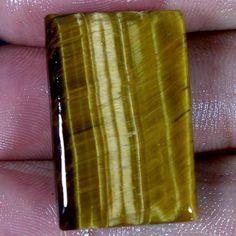 36.55cts. Natural Brilliant shining iron tiger cushion cabochon loose gemstone #Handmade