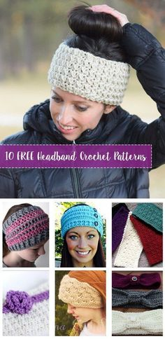 How to Make a Crochet Hat 10 FREE Crochet Headband Patterns. Compilation of Free crochet headband and ear warmer patterns. Create the crochet headbands for you or friends. Bandeau Crochet, Crochet Headband Free, Crochet Beanie, Crochet Gifts, Easy Crochet, Free Crochet, Knit Crochet, Double Crochet, Crochet Hair