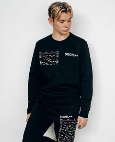 Would you wear the complete set or match it with something else in our collection? 17 Kpop, Bars And Melody, Dream Boyfriend, Great Friends, Interior Design Living Room, Cute Boys, Design Trends, Graphic Sweatshirt, My Love