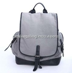 Canvas Cotton Casual Backpack, Casual School Bag (KC014) - China Backpack Bag;School Backpack;casual backpack, KINGS