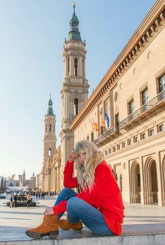 #travel #fashion #Zaragoza #red #ootd #fashionblogger #travelblogger